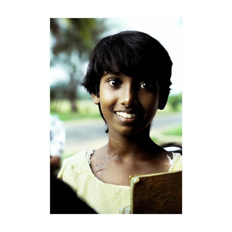 Portrait d'un enfant sri lankais