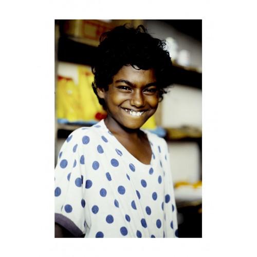 Portrait d'une enfant sri lankaise